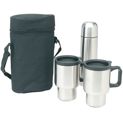 Worthy 4 Piece Stainless Steel Double Walled Insulated Travel Mugs Set With Case