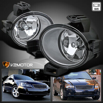 For 05-06 Nissan Altima JDM Clear Front Bumper Fog Lights Lamps+Switch