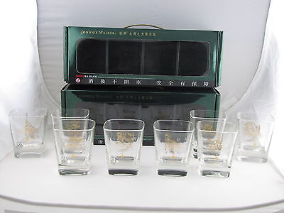 Johnnie Walker Whisky Green Label TAIWAN WONDERS COLLECTION 8x Glasses Two Sets