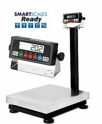 New 800lb/0.05lb Bench Shipping Scale | Floor Scale with Stainless Steel Platter