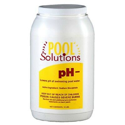 Pool Solutions P32012DE Pool Water pH Decreaser pH Minus 12lb