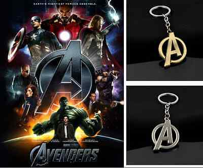 Superheroes The Avengers A Symbol Pendant Exquisite Alloy Keychain Keyring Gift