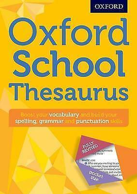 Oxford School Thesaurus Children English New Curriculum Support
