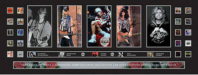 New Guns N Roses Signed Limited Edition Panoramic Memorabilia Framed