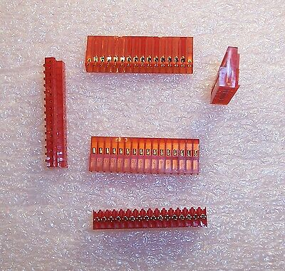 Qty (10) 1-640440-6 Amp 16 Position Mta-100 Idc Connectors 22Awg Closed End