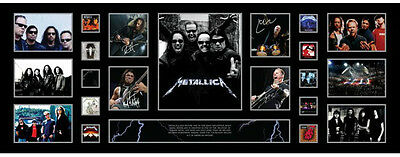 New Metallica Signed Limited Edition Panoromic Memorabilia Framed