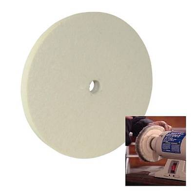 "Felt Buffing Wheel 150 Mm 6"" For Polishing Most Metals Stone Glass Bench Grinder"