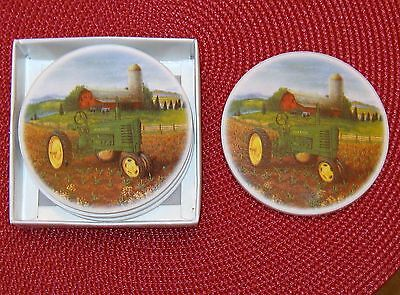 Set Of 4 John Deere Coasters New