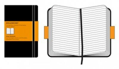 "Moleskine Ruled Blk Notebook - Pocket 3½""x5½"" 192P 1009"