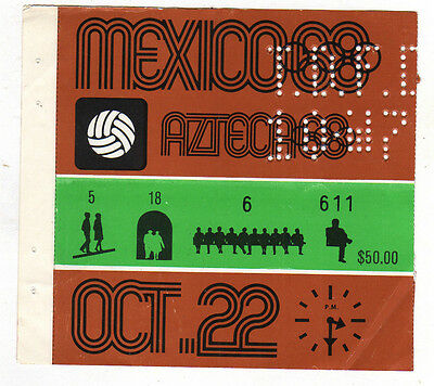 Orig.Ticket    Olympic Games MEXICO 1968 / Football Tourn.  JAPAN - HUNGARY  1/2