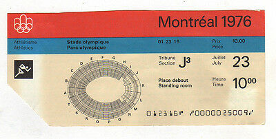Orig.ticket    Olympic Games MONTREAL 1976  -  23.07.1976  ATHLETICS  !!  RARE
