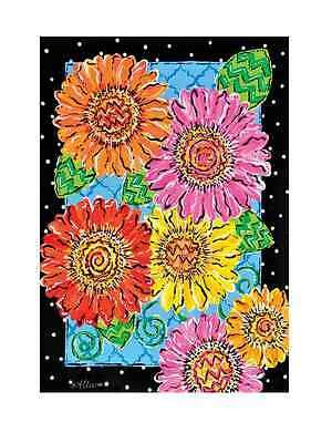 """LIVELY GERBERAS 12""""x 18"""" Garden Flag- Flowers, Spring, Summer, Bright and Bold"""