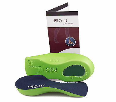 3/4 Slim Fit orthotic insoles arch support fallen arches over pronation NHS