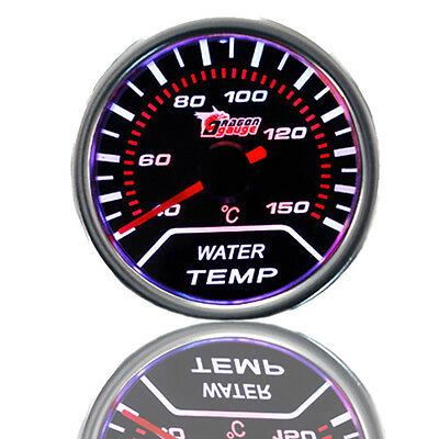 "Car Vehicle Motor 2"" 52mm Tint Lens LED Water Temperature Meter Temp Gauge AU"
