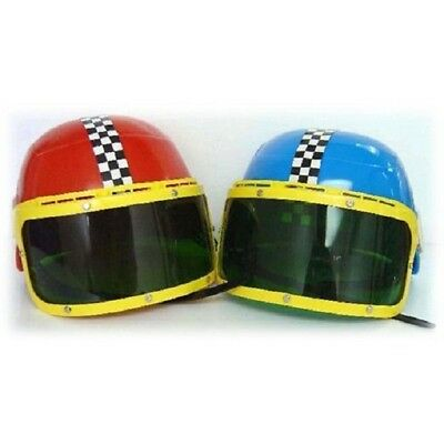 Kids Racing Car Driver Helmet with Visor Childrens Role Play Dress Up New