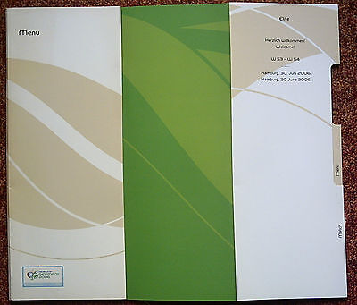 Orig.Menu card for VIP Guest  World Cup Germany 2006  UKRAINE - ITALY  1/4 F./ A