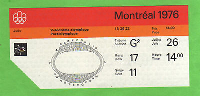 Orig.Ticket    Olympic Games MONTREAL 1976  -  JUDO  !!
