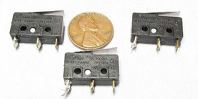 3 pcs - Defond Micro Switch, NC NO Momentary 5A 125VAC Plunger Snap Limit 250V A