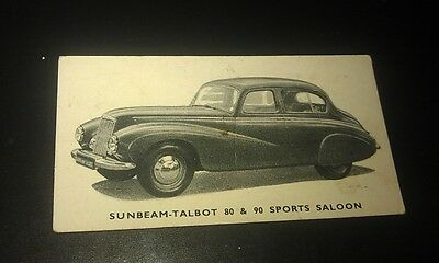 1949 SUNBEAM TALBOT  Orig Kelloggs Swap Card