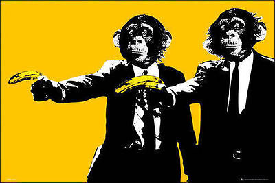 FUNNY POSTER MONKEY 22667 24x36 SHRINK WRAPPED CHIMPS ON GIRDER