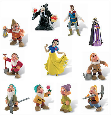 Official Bullyland Disney Snow White Figures Figurines Toys Cake Topper Toppers