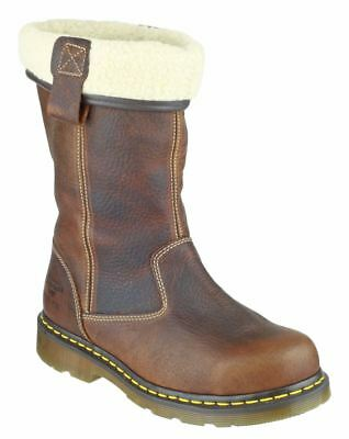 Dr Martens Rosa S1 SRC teak lined ladies Airwair safety rigger boot size 3-8 UK