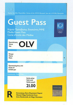 Orig.Guest Pass     XXVIII.Olympic Games ATHEN 2004  ///   EXTREM RARE