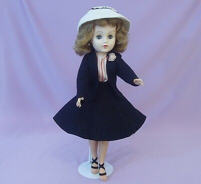 "19"" FASHION LADY DOLL  Late 1950s  ORIGINAL CLOTHES"