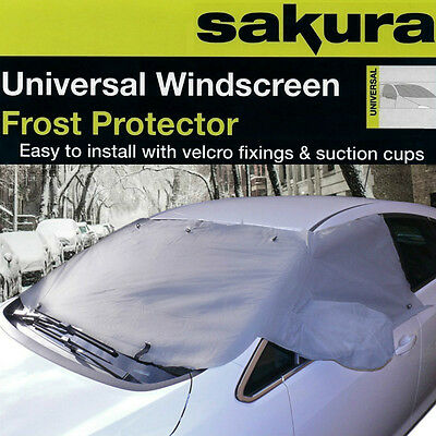 Large Universal Car Windscreen Cover Frost Ice Shield Snow Dust Protector Sheet