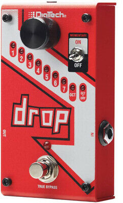 Digitech DROP Compact Polyphonic Drop Tune Pitch-Shifter. U.S. Authorized Dealer