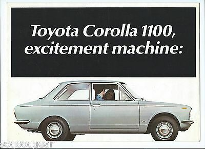 TOYOTA COROLLA 1100 SALES BROCHURE, fold out type