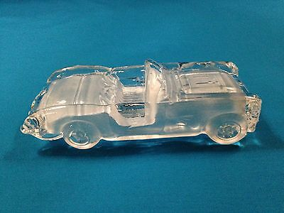 1959 Corvette Glass Crystal Car Paperweight (Free Shipping)