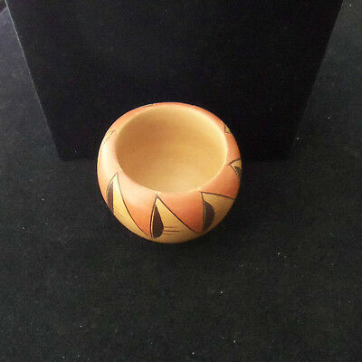 Native American HOPI TEWA HAND COILED SMALL BOWL POT POTTERY