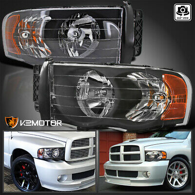 2002 2005 Dodge Ram 1500 2003 2500 3500 Black Headlights Left Right Experienced Er Great Value Customer Care
