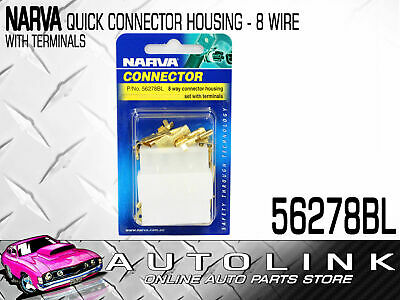 Narva 8 Way Connector Housing With Terminals Amperage Rating: 20A
