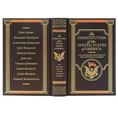 The US Constitution Federalist Papers Common Sense by Thomas Paine Leather Bound