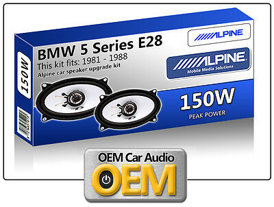 BMW 5 Series E28 speakers for footwell Alpine car speaker kit 150W Max power 4x6