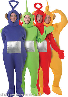 Mens Ladies 1990s Teletubby Teletubbies Stag Hen Do Fancy Dress Costume Outfit