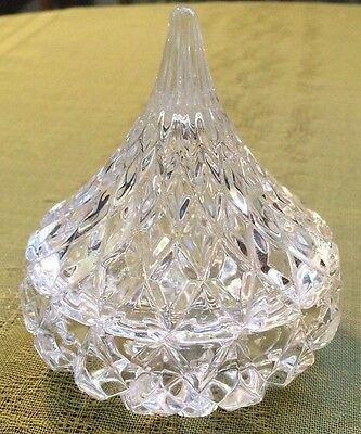Vintage Quilted Diamond Crystal Powder Jar With Bell Shaped Lid BEAUTIFUL
