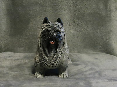 Cairn Terrier Plaster Dog Statue Hand Cast & Painted By T.c. Schoch