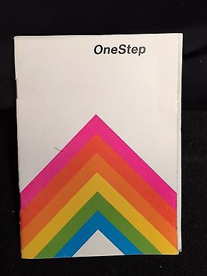 Vintage Polaroid One Step Camera Rainbow SX-70 Manual Only