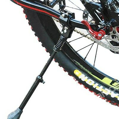 Bicycle Bike Cycling Adjustable Aluminum Kickstand Foot Storage Side Stick Stand