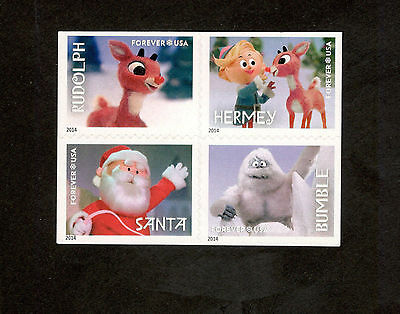 4946-9 Rudolph The Red Nosed Reindeer Block Of 4 Mint/nh (free shipping offer)