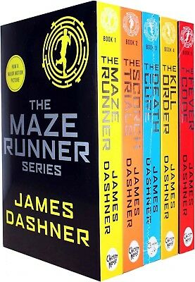 Maze Runner Series James Dashner 5 Books Set Pack The Death Cure, Scorch Trials