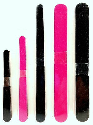 Double Sided 180/100 Grit Boomerang/Banana Curved Nail Files Emery Board