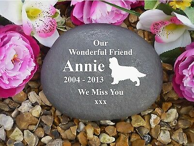 Dog Memorial - Large Pebble (Stone Effect) - Personalised & Weatherproof