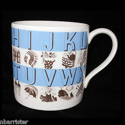 Wedgwood ABC Alphabet Childs Mug designed by Eric Ravilious Pictorial Cup
