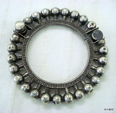 vintage antique tribal old old silver bracelet bangle belly dance rabari jewelry