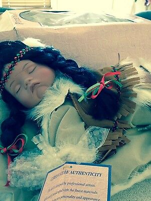 Goldenvale Collection Native American Sleeping Doll - Limited Edition