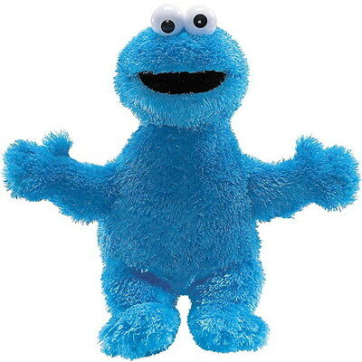 "NEW OFFICIAL GUND Sesame Street Cookie Monster 12"" Beanie Plush Soft Toy 075352"